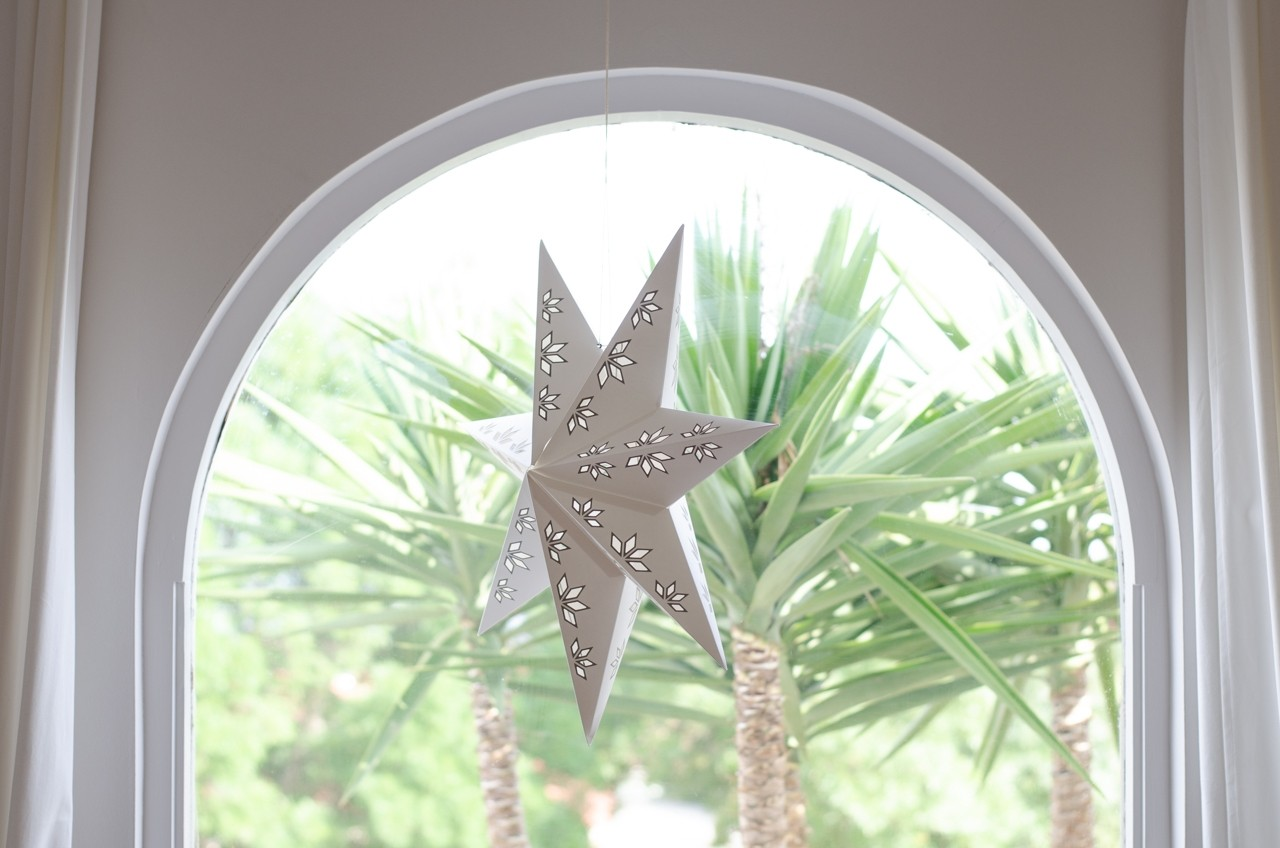 Christmas star in window