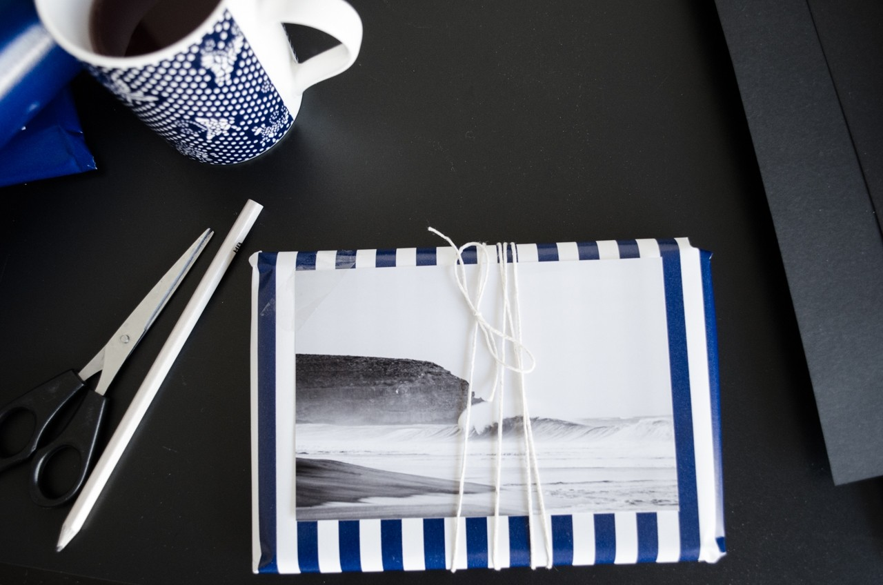 Blue Christmas wrapping ideas